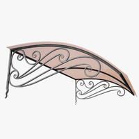 Wrought Iron Awning 16