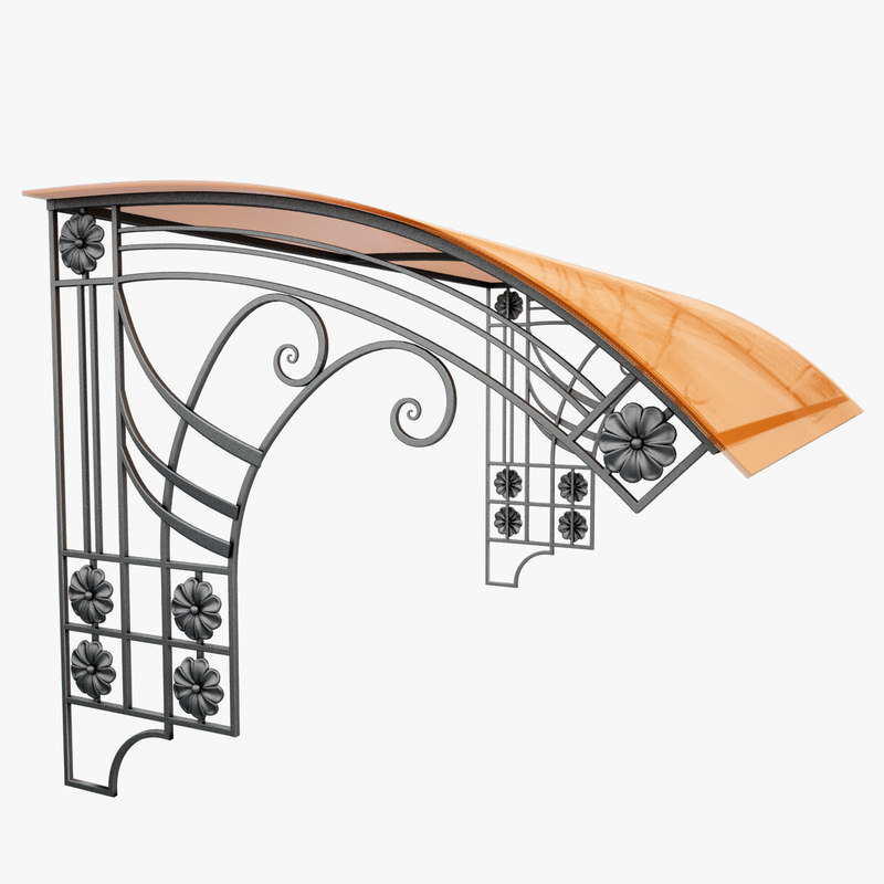 max wrought iron awning