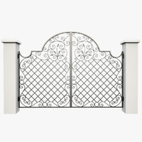 3d model wrought iron gate