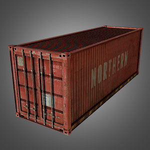 shipping conex cargo container 3d obj