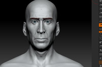 cage face 3d model