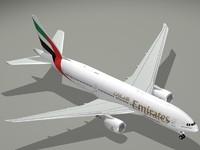 b 777-200 lr emirates 3d c4d
