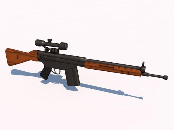 3d model cetme fusil