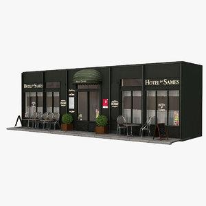 3d france restaurant hotel