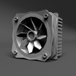 computer heat sink component 3d obj