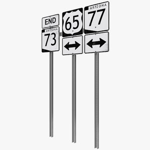 3ds max highway signage 7