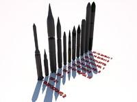 missile icbm 3d model