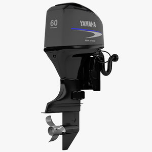 3d model outboard engine yamaha 2