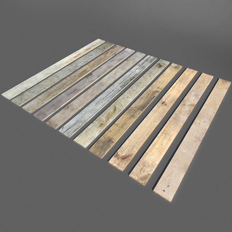 3d model wood planks