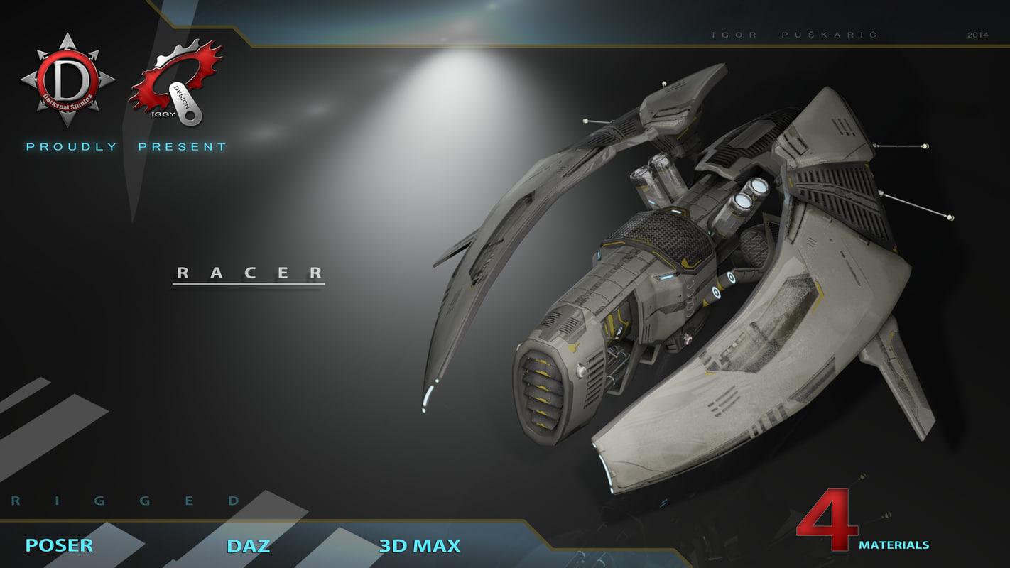 zeneca racer 3d max