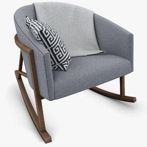 3d max ryder rocking chair