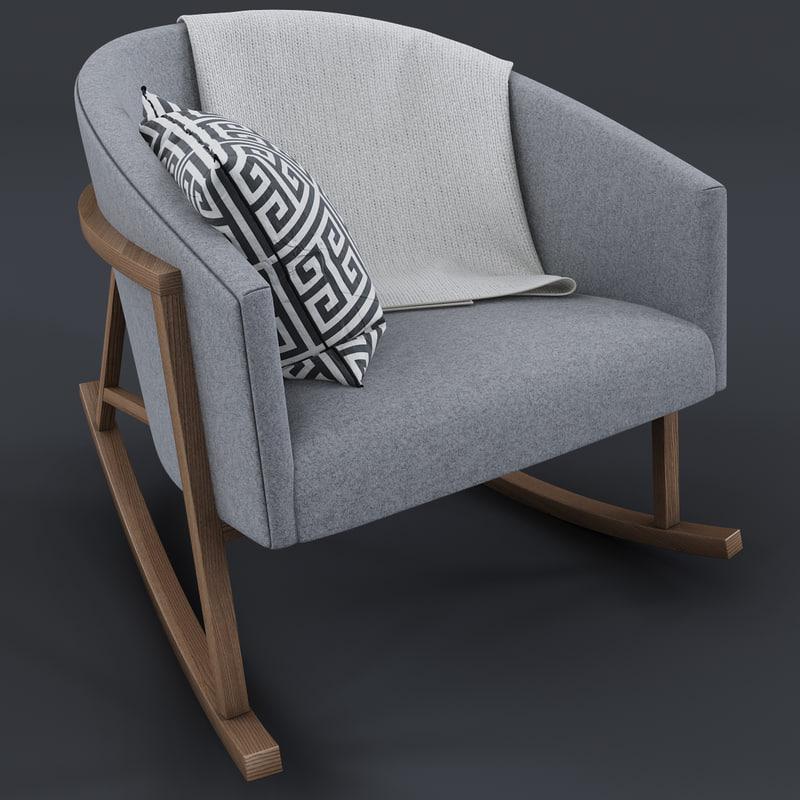 Magnificent Ryder Rocking Chair Inzonedesignstudio Interior Chair Design Inzonedesignstudiocom