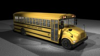 3d yellow school bus model