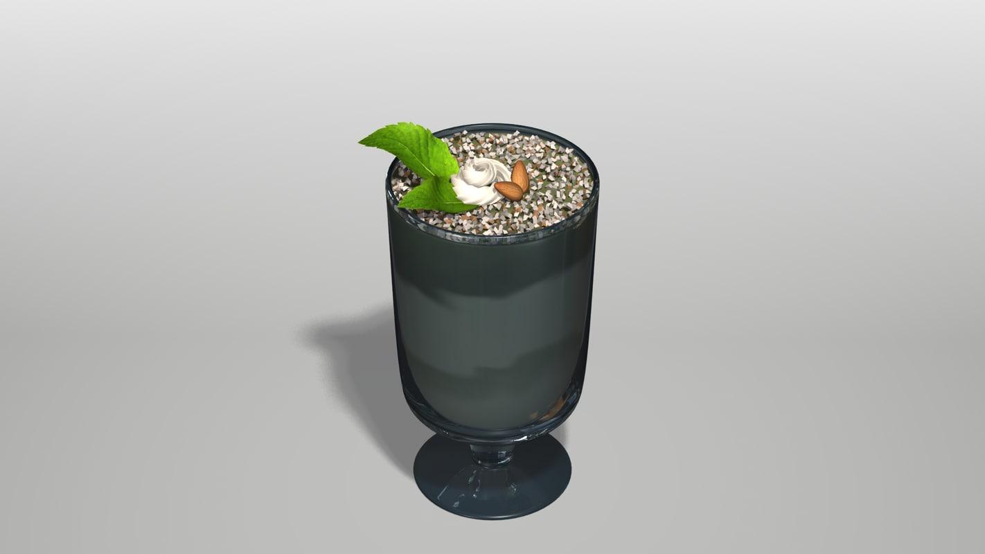 mini dessert mousse cup 3d model