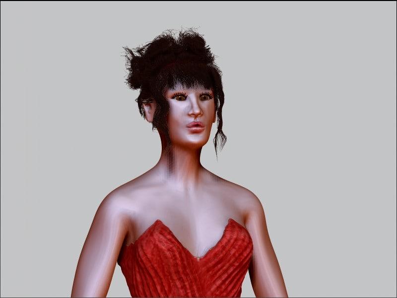3d model people woman