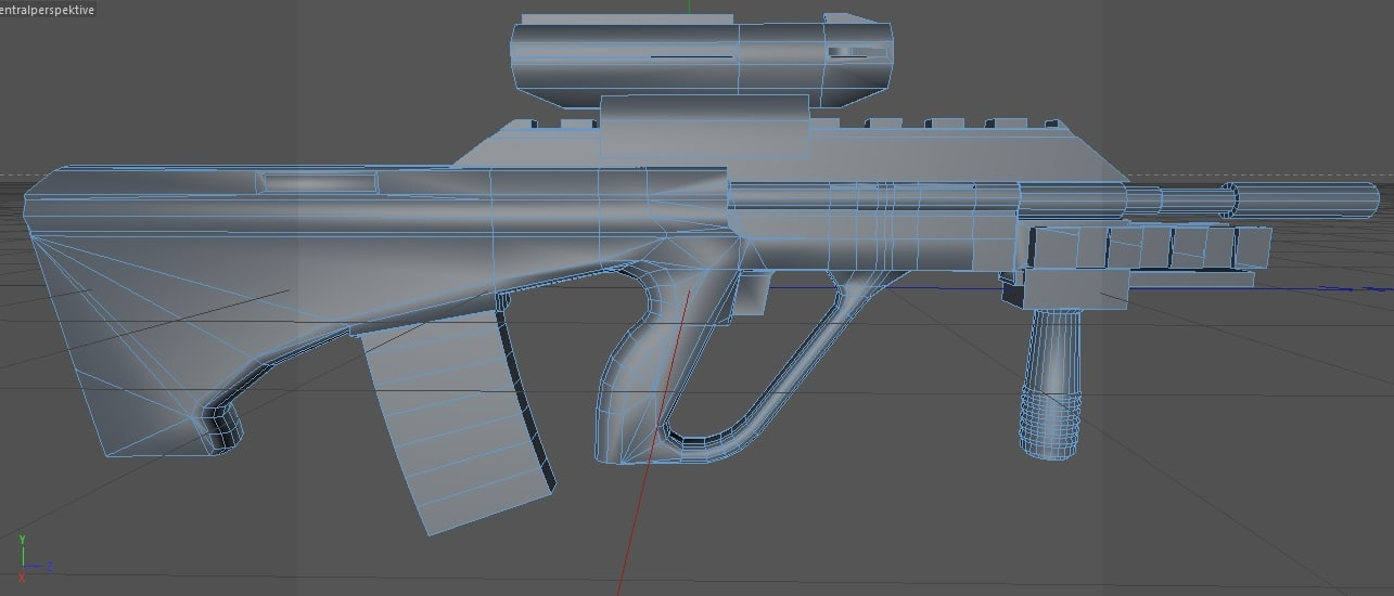 3d model steyr aug a3