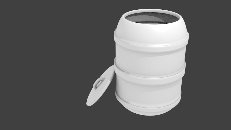 3d model barrel non