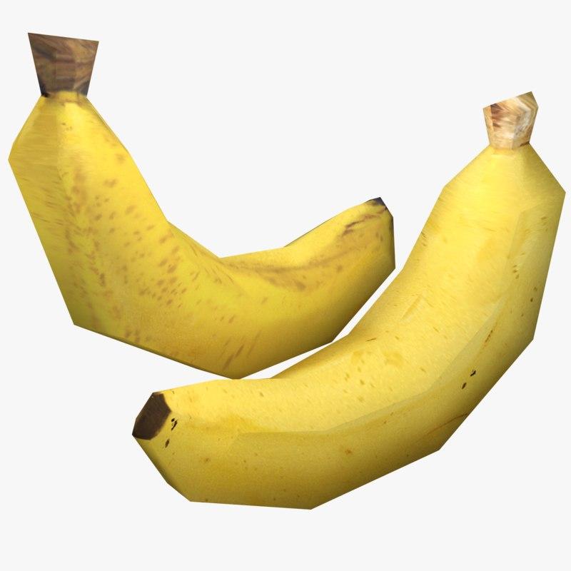 3d banana ready