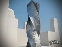 3d 3ds skyscraper modular mentalray