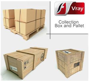 3ds max box pallet