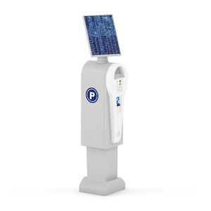 parking meter solar 3d model