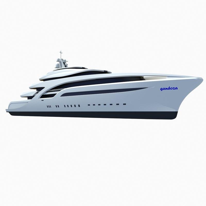 concept luxury superyacht 3d max
