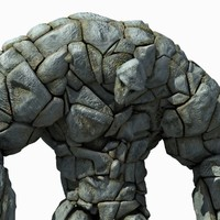 stone golem rigged 3d max