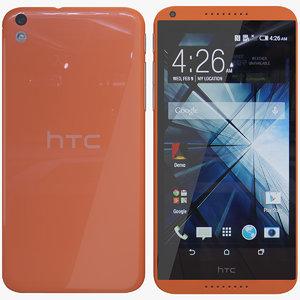 htc 816 orange 3d max