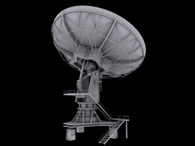 3d telecommunication antenna model