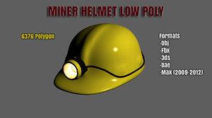 3d model ready miner helmet