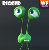 Cartoon Character - Alien