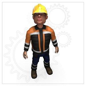 builder poser figure 3d pz3