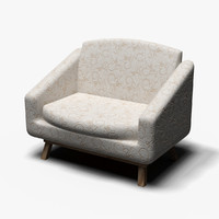 3d model of armchair chair