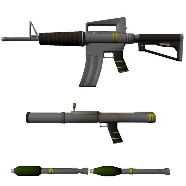 3d jagger weapon rifle model