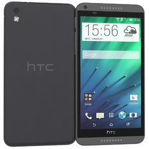 3d htc desire 816 black model