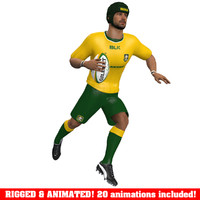 Rugby Player Animated A