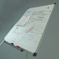 Whiteboard on stands