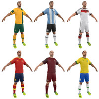 3d model soccer players