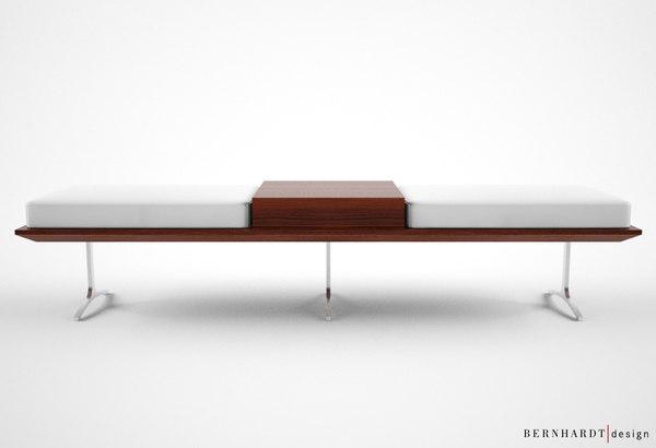 bernhardt design argon bench 3d model