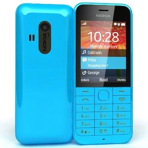 nokia 220 blue 3d