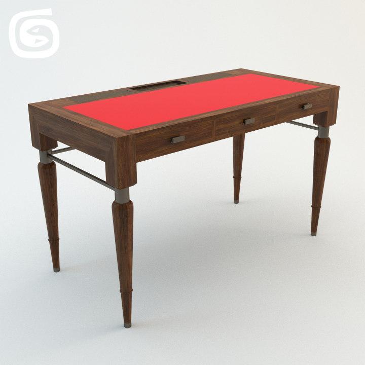 supernal desk 3d max