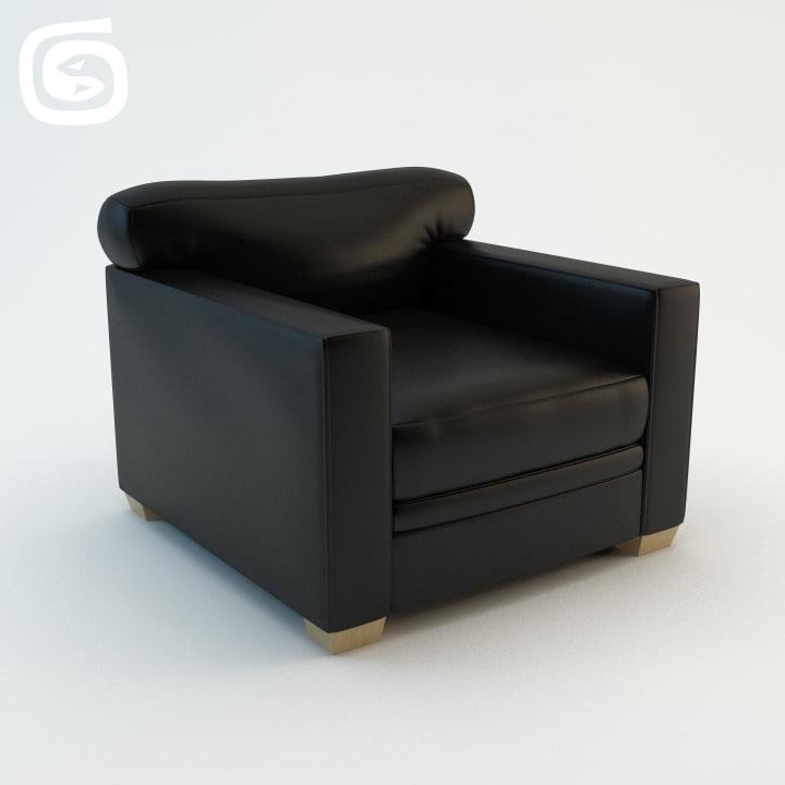 ecart armchair 3d max