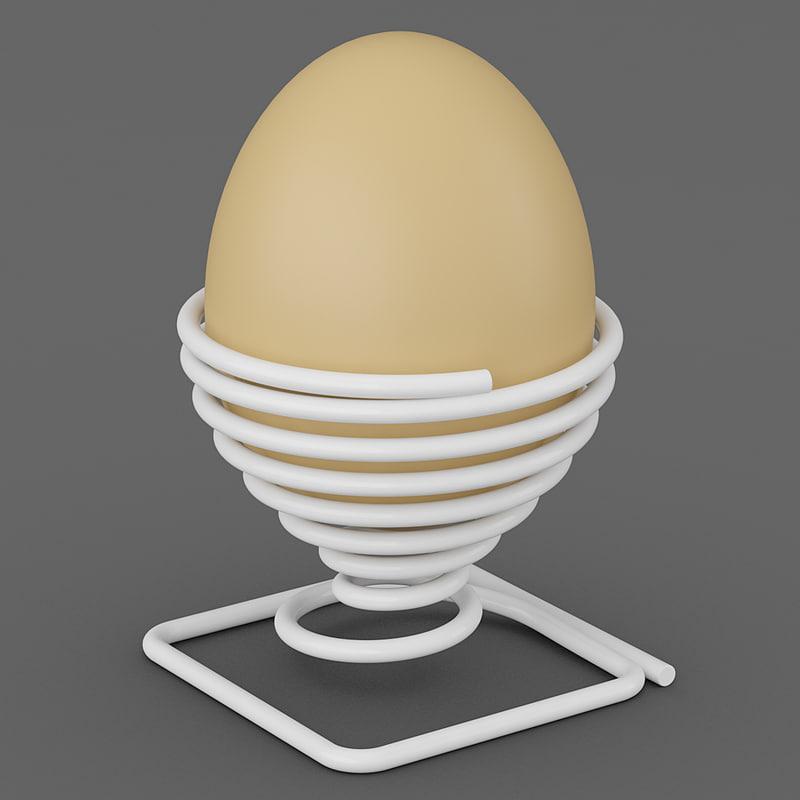 3d spring egg holder