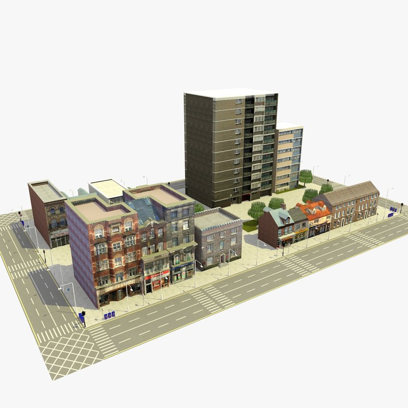 city urban block c 3ds