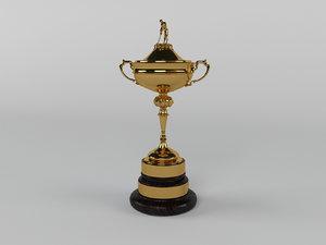 ryder cup trophy 3d model