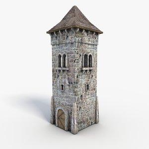 tower games uv 3d model