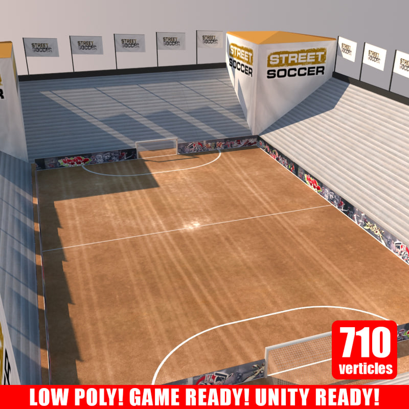 street soccer court arena 3d model