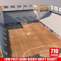 street soccer court arena 3d model