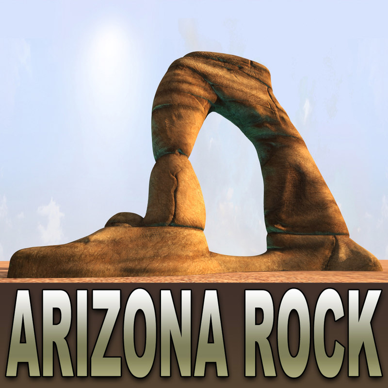 3d model arizona desert rock