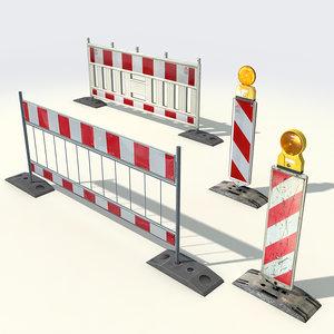 3d max street barriers